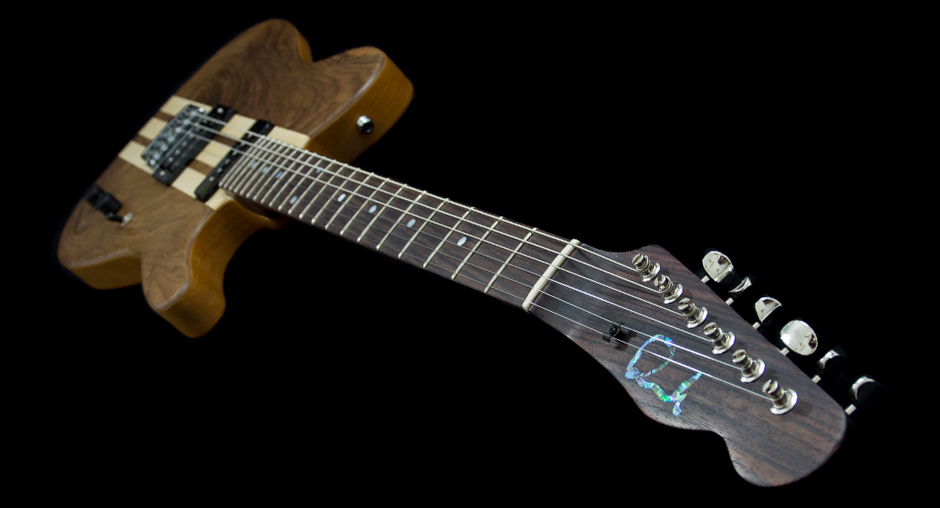 Walnut and maple capped Tele with a solid rosewood neck