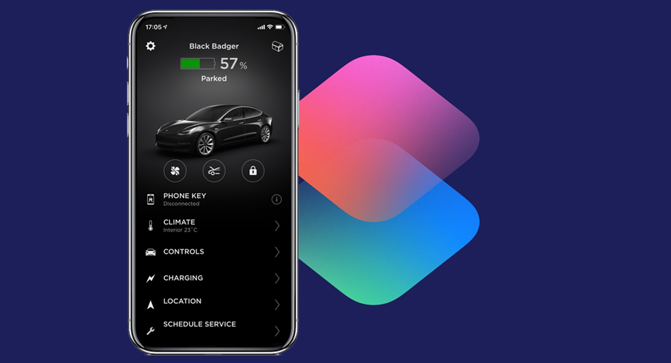 Tesla shortcut icons for your iPhone